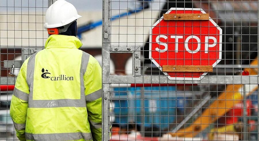 Den britiske anlægs- og servicevirksomhed Carillion besluttede mandag morgen at lade sig tvangslikvidere med øjeblikkelig virkning.