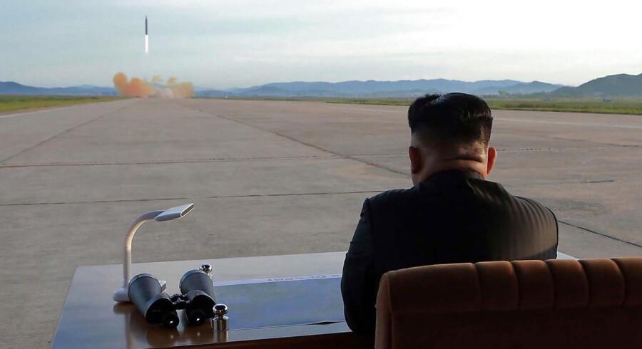 "Arkivfoto: ""AFP PHOTO/KCNA VIA KNS"""