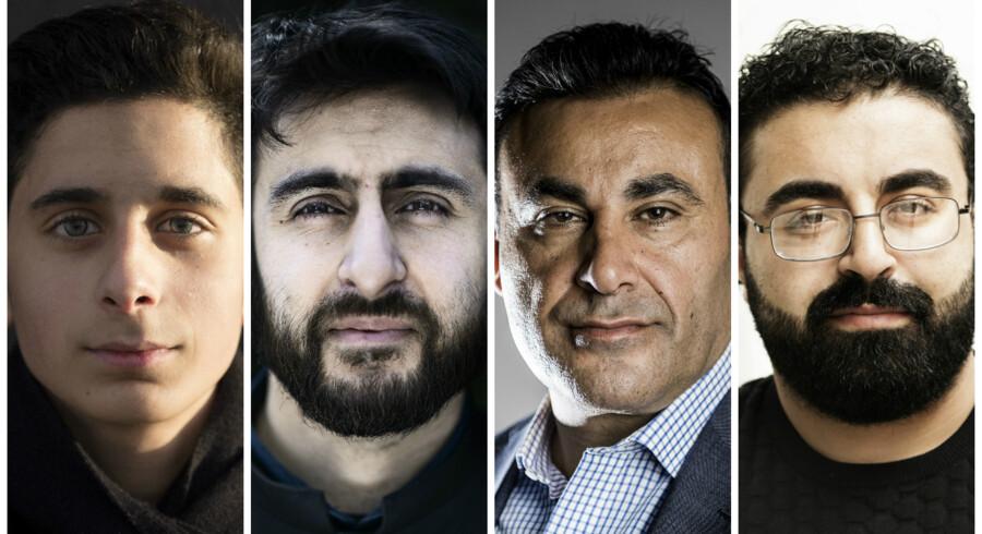 Fra venstre mod højre: Ebrahim Said, Waseem Hussain, Naser Khader og Ahmad Mahmoud.