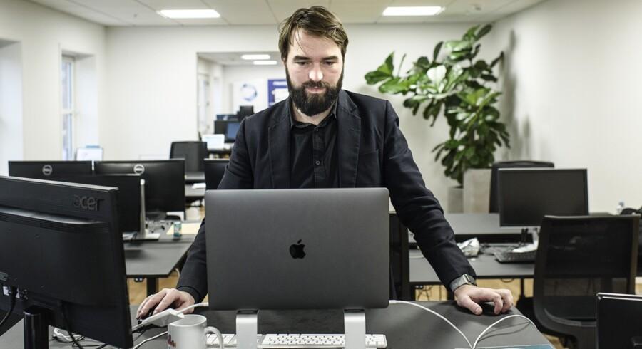 Fredrik Grothe-Eberhardt, som står i spidsen for kryptovekselereren WeMoveCoins, har oplevet, at tricktyve har prøvet at skaffe sig bitcoin med et gammelt svindelnummer. Arkivfoto: Niels Ahlmann Olesen