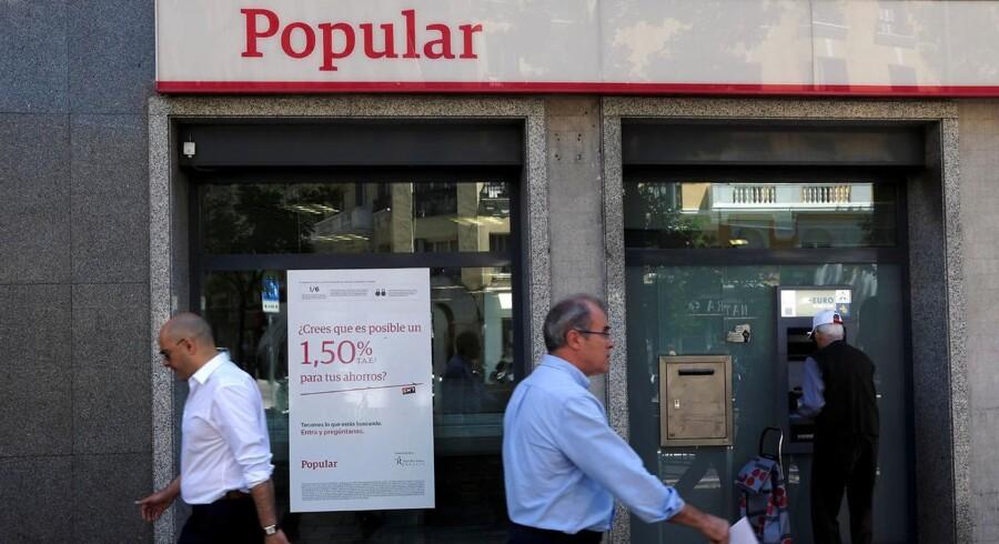 Banco Popular i Madrid.