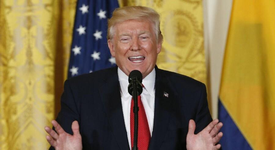 Præsident Donald Trump 18. maj 2017.