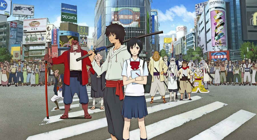"""Det moderne Tokyo er flot gengivet i """"Udyret og hans lærling"""". Stillfoto fra filmen"""