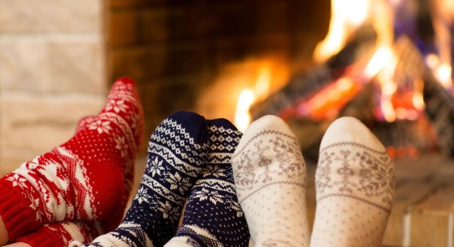 Uldne sokker og ild i pejsen, så bliver det vist ikke mere hyggeligt?
