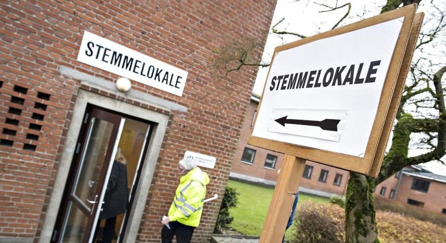 Thyregod Skole i Thyregod på valgdagen under Regions- og Kommunalvalget 2017, tirsdag den 21. november 2017.. (Foto: Claus Fisker/Scanpix 2017)