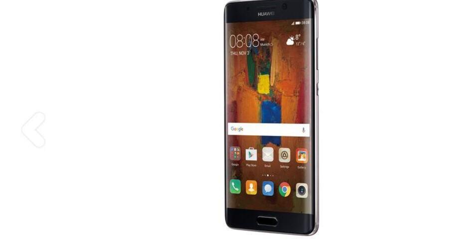 Huawei Mate 9 Pro kommer i handelen i Danmark 20. december. Foto: Huawei