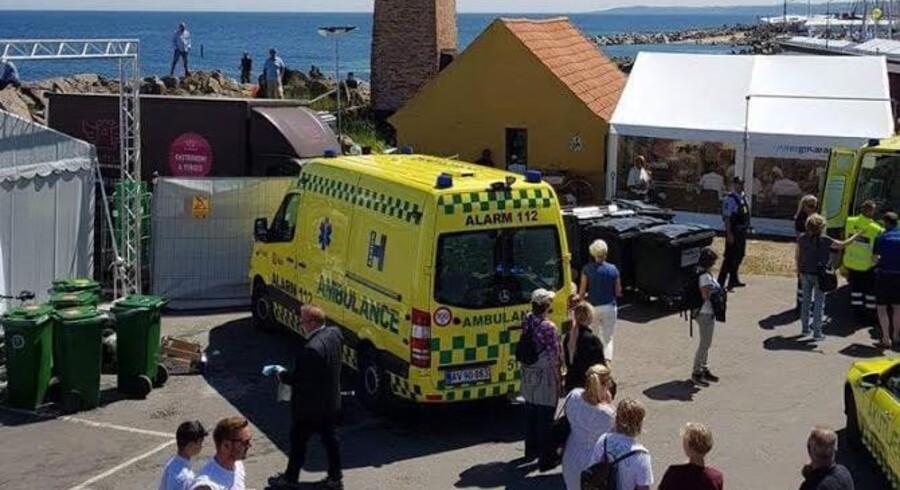 Lørdag rykkede ambulancefolk ud for at komme en kvinde til undsæning, som var styrtet ned af klipperne i Allinge.