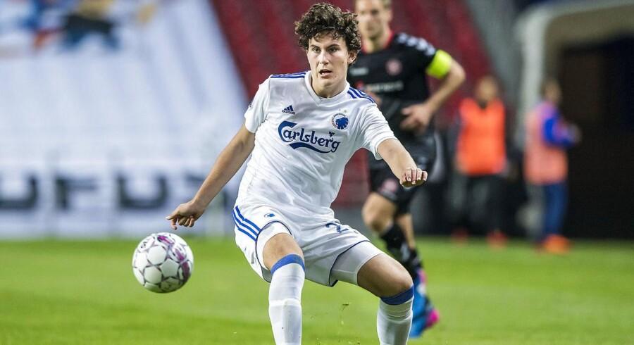 Jonas Wind (23), FC København, under Alka Superliga-kampen mellem FC København og AaB I Telia Parken onsdag den 18. april 2018.