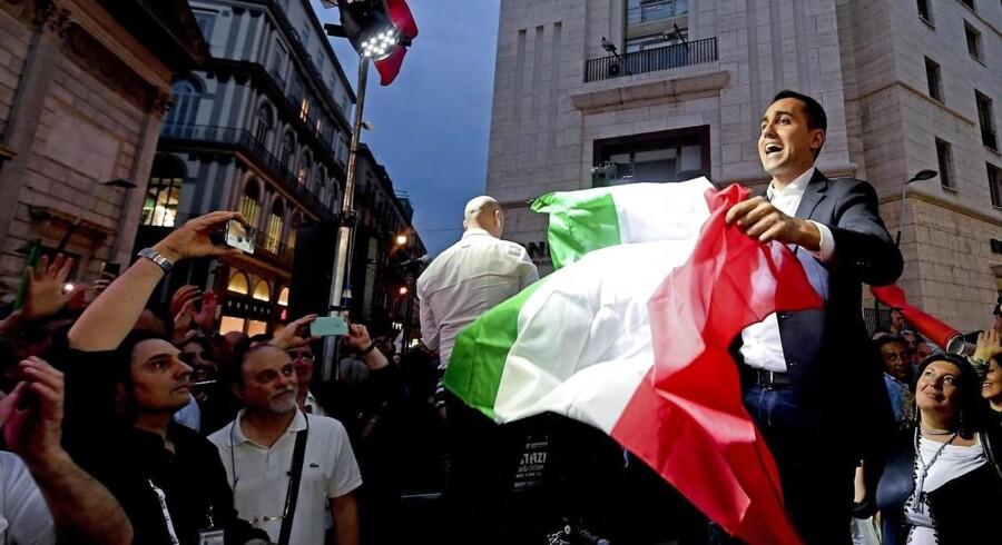 Femstjernebevægelsens leder, Luigi Di Maio, tirsdag 29. maj 2018.