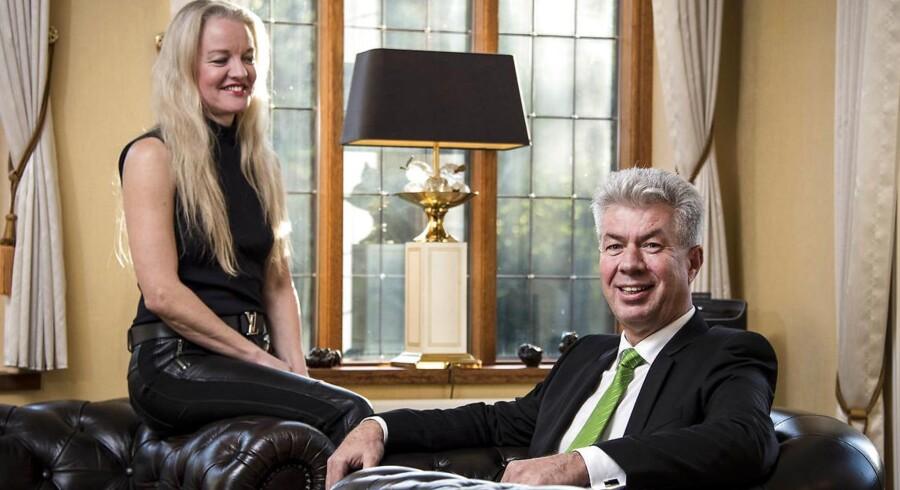 Arkivfoto. Knud Steen Larsen fra EWII og hustru Marianne Steen Larsen i deres villa i Odense.