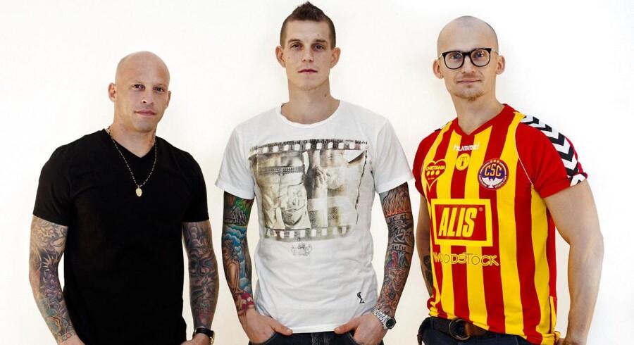 Ami James, Daniel Agger og Christian Stadil. Tre af ejerne bag Tattoodo, der har skudt cirka 60 mio. kroner ind i firmaet.
