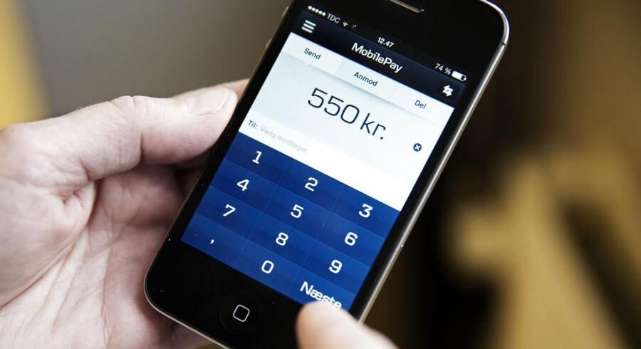 ARKIVFOTO: En østjysk mand er mistænkt for at oprettet falske MobilePay-konti, der er brugt til at betale i forretninger.