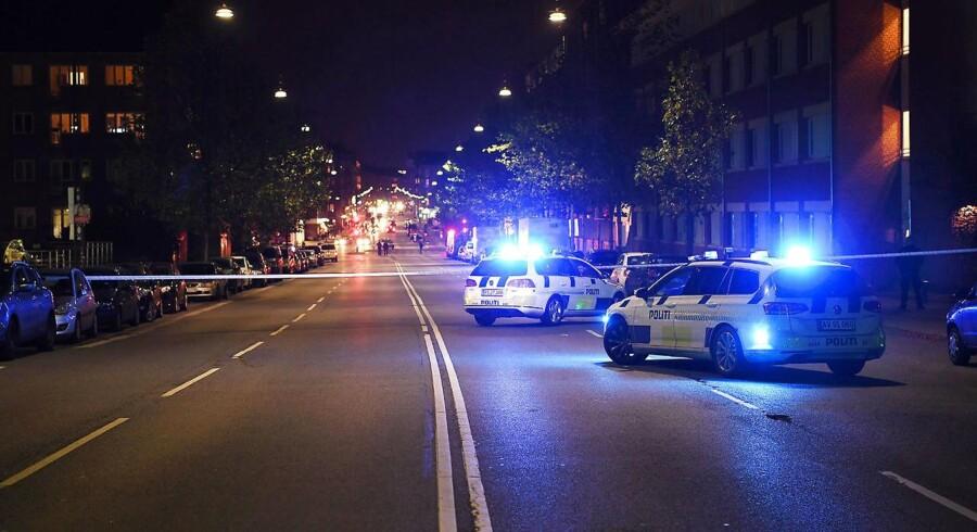 En stor politiaktion finder sted på Tagensvej i København i forbindelse med skyderi den 31.10.2017 ccc. (Foto: Thomas sjoerup/Scanpix 2017)