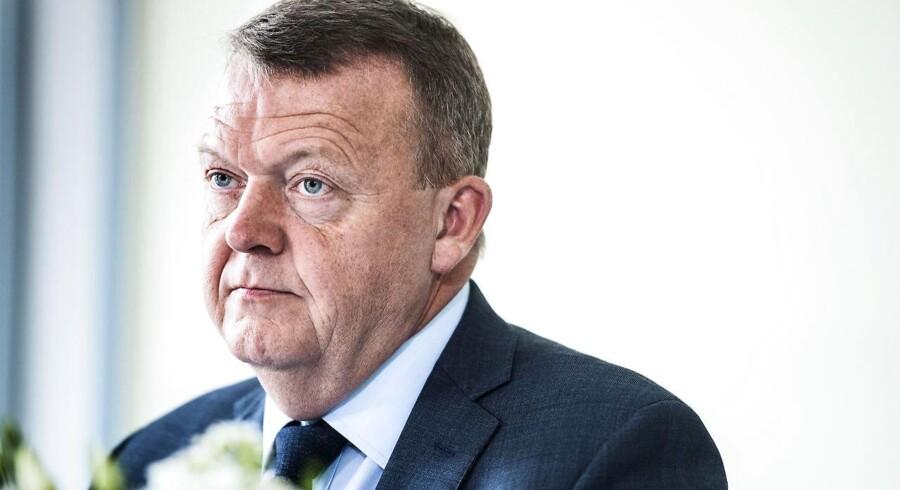 Statsminister Lars Løkke Rasmussen og medlemmer af Disruptionsrådet holder pressemøde på Hotel Hesselet.. (Foto: Sophia Juliane Lydolph/Scanpix 2017)