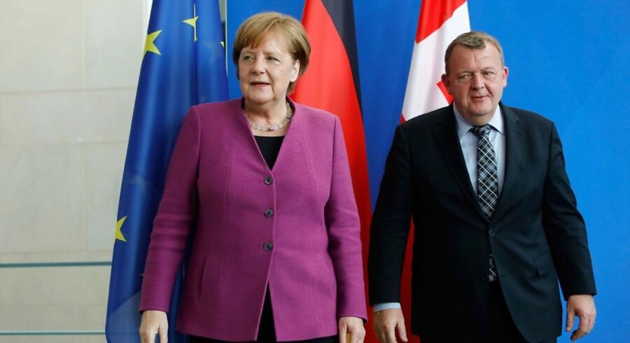 Statsminister Lars Løkke Rasmussen besøgte torsdag Tysklands forbundskansler, Angela Merkel, i Berlin.