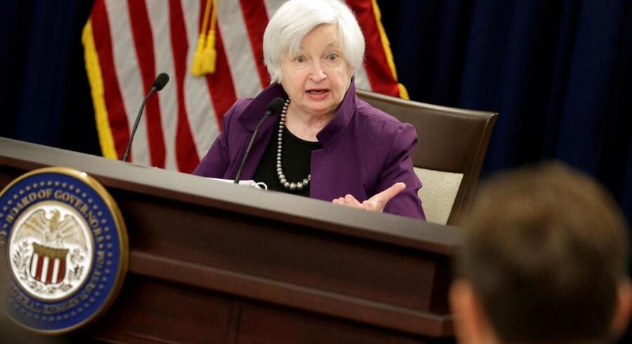 ARKIVFOTO: Direktør for den amerikanske centralbank Federal Reserve Janet Yellen