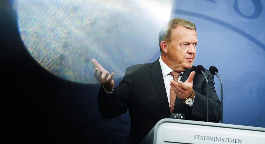 Statsminister Lars Løkke Rasmussen præsenterer regeringens Helhedsplan - for et stærkere Danmark. (Foto: Ólafur Steinar Gestsson/Scanpix 2016)