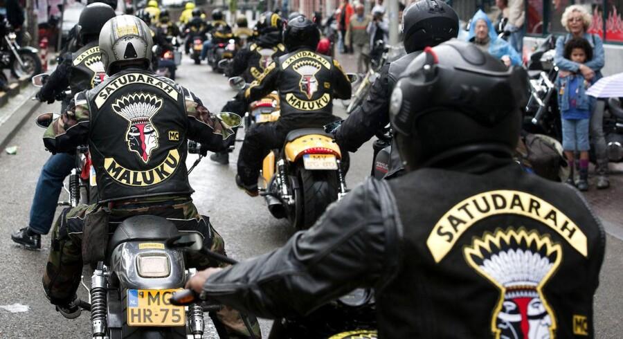 Arkivfoto. Medlemmer af Satudarah blev anholdt på grund af fund af hash og klubhus ransaget. De fleste er løsladt igen.