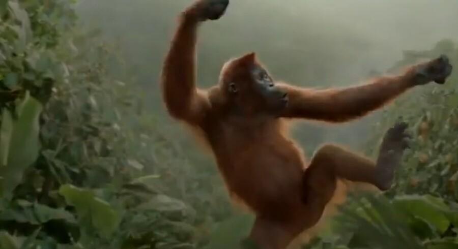 Aben Rynke danser i ny reklamefilm.