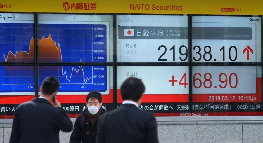 Yen styrkes i takt med at japanske investorer afvikler lange positioner i højere forrentede valutaer.
