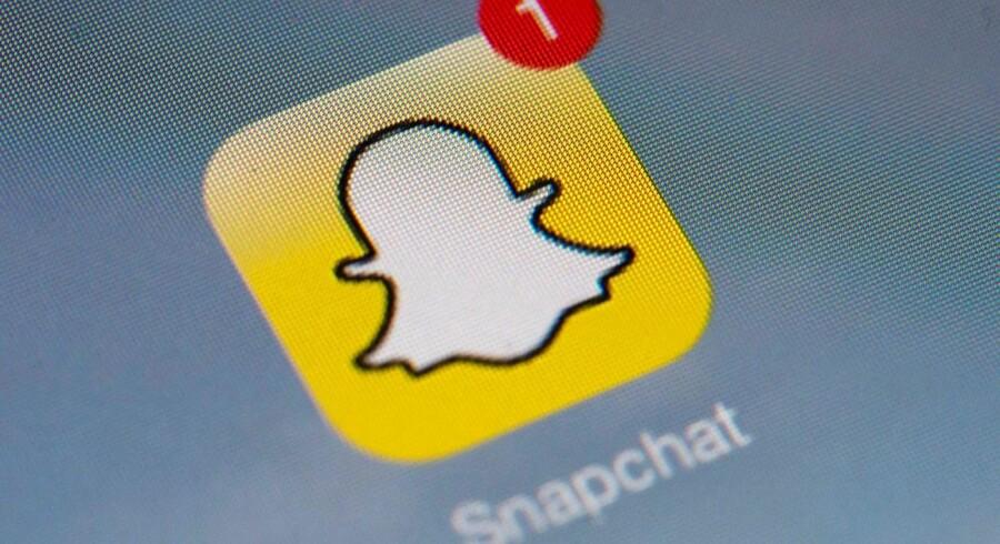 Snapchat-appen har dagligt omkring 161 millioner brugere, der sender selvdestruerende billeder og filmklip til hinanden. Arkivfoto: Lionel Bonaventure, AFP/Scanpix