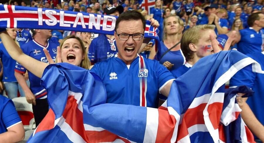 Op mod 10 procent af den islandske befolkning har i løbet af slutrunden indfundet sig på franske stadioner for at støtte deres hold.