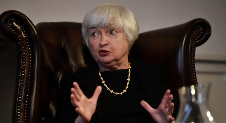 Den amerikanske centralbanks topchef, Janet Yellen.