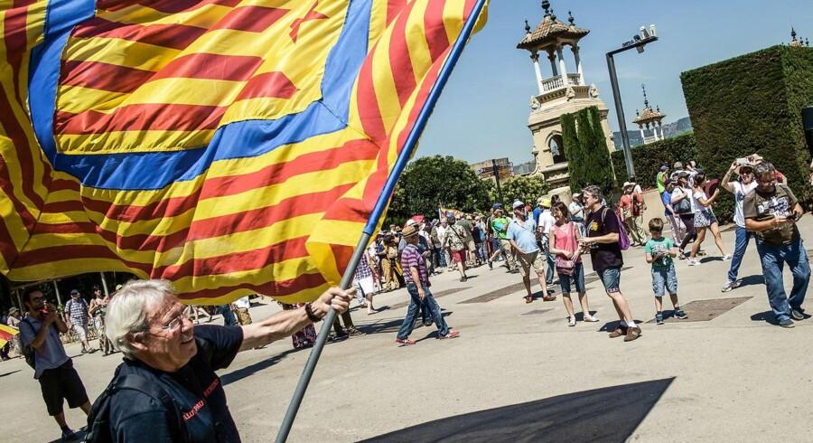 Drømmen om et selvstændigt Catalonien lever hos mange i den nordspanske region. Den planlagte folkeafstemning og dens skæbne afventes dog med spænding, idet den spanske regering har bekendtgjort, at den ikke vil tillade afstemningen, der er forfatningsstridig. Arkivfoto: Donat Sorokin/TASS