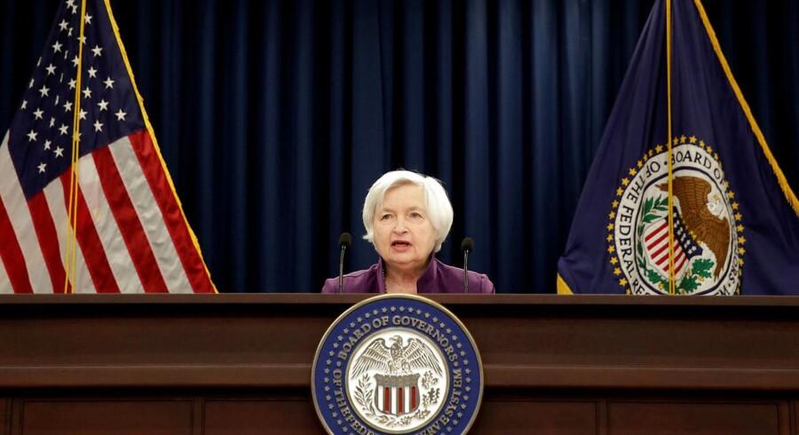 Fokus er rettet mod det pressemøde onsdag aften dansk tid, hvor centralbankchef Janet Yellen formentlig vil komme ind på, hvornår banken vil begynde at reducere balancen.