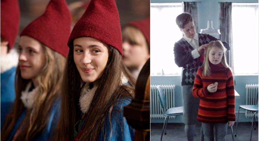 Både »Tinkas juleeventyr« på TV 2 og norske »Snefald« på DR 1 handler om nisser, mennesker og forbyttede børn. Foto: TV 2 / DR.
