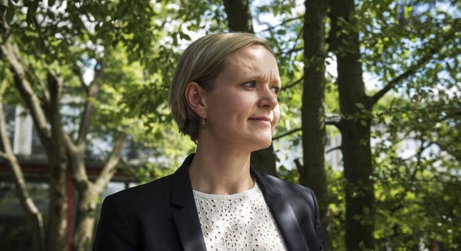 Venstres spidskandidat til kommunalvalget 2017, Cecilia Lonning-Skovgaard. Her er hun fotograferet i Tingbjerg, som er en bydel, der spiller ind i Cecilia Lonning-Skovgaards politiske vision.