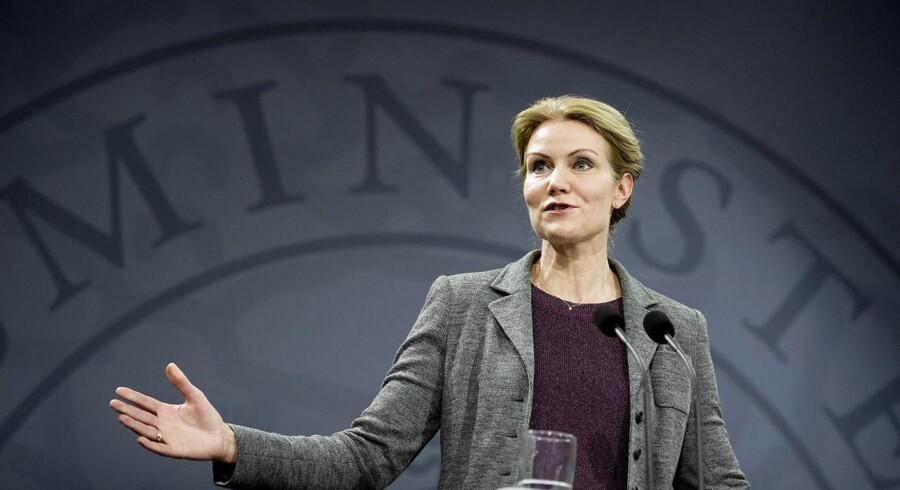 Statsminister Helle Thorning Schmidts pressemøde onsdag 27. nov. 2013.