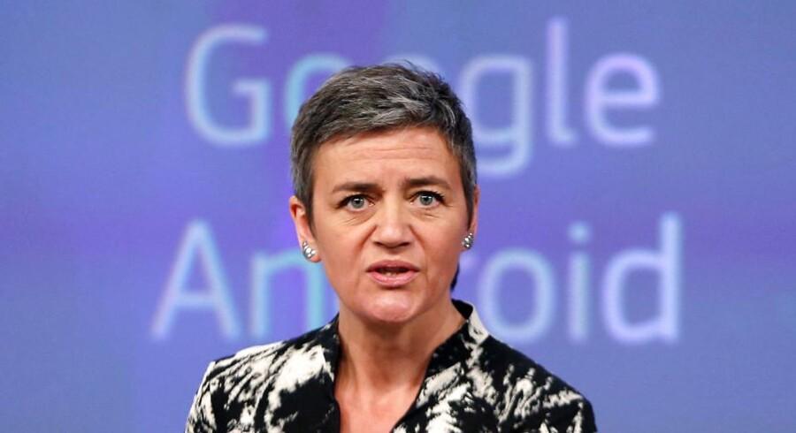 EUs konkurrencekommissær Margrethe Vestager slår hårdt ned på verdens største IT-giganter