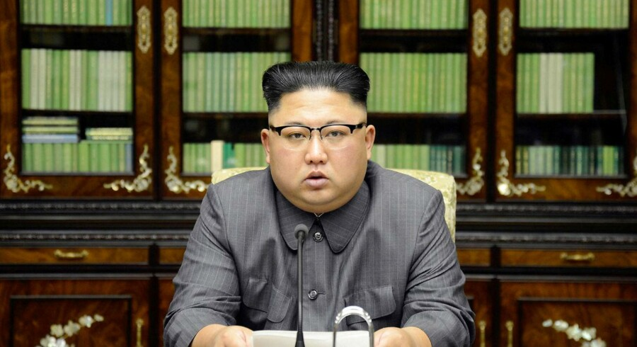 Nordkoreas Kim Jong Un udtaler sig om Trumps tale i FN. eleased by North Korea's Korean Central News Agency (KCNA) in Pyongyang September 22, 2017. KCNA via REUTERS ATTENTION EDITORS - THIS PICTURE WAS PROVIDED BY A THIRD PARTY. REUTERS IS UNABLE TO INDEPENDENTLY VERIFY THIS IMAGE.NO THIRD PARTY SALES. SOUTH KOREA OUT. TPX IMAGES OF THE DAY