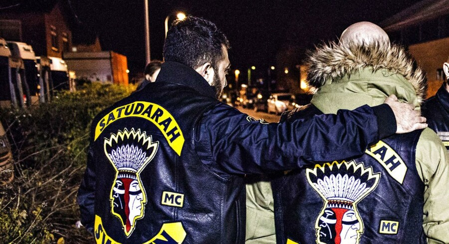 Arkivfoto: Efter flere måneders efterforskning slog Særlig Efterforskning Øst til mod en gruppe med relationer til rockerklubben Saturdarah. 16 personer blev anholdt.