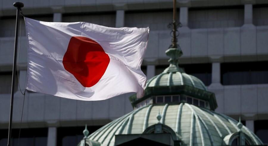 Arkivfoto: Japans flag.