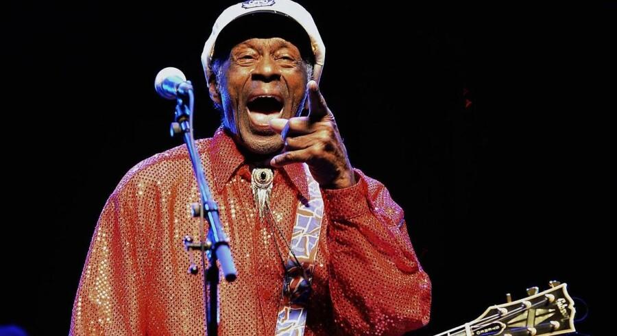 Chuck Berry spillede sin første koncert i skolen, men i en periode som ung beskæftigede han sig slet ikke med musik. Arkivfoto: Pablo Porciuncula/AFP