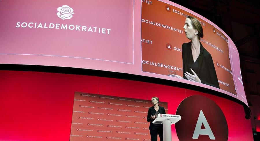 Arkivfoto: Med 1,7 procentpoint mønstrer Socialdemokratiet den største fremgang. Partiet står med 28,0 procent af stemmerne til at udbygge positionen som Folketingets absolut største parti.