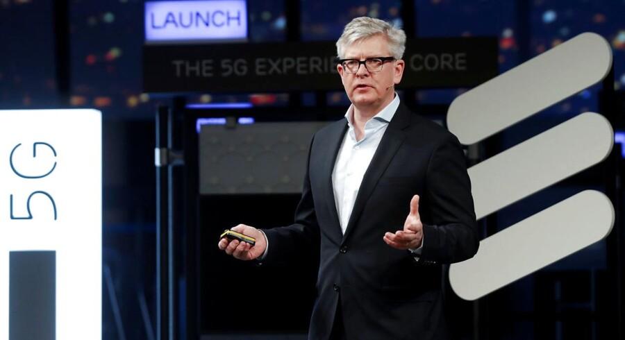 Börje Ekholm har snart stået i spidsen for den svenske mobilgigant Ericsson i et år, og han har lovet at fordoble overskudsgraden ved at skære ned og om muligt sælge fra, mens man samtidig håber, at det kommende 5G-mobilnet vil forbedre økonomien. Arkivfoto: Eric Gaillard, Reuters/Scanpix