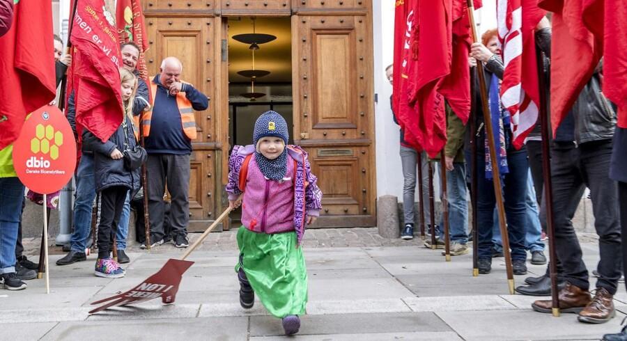 Demonstration foran Forligsinstitutionen på Sankt Annæ Plads i København, lørdag den 14. april 2018. Foto: Bax Lindhardt / Scanpix