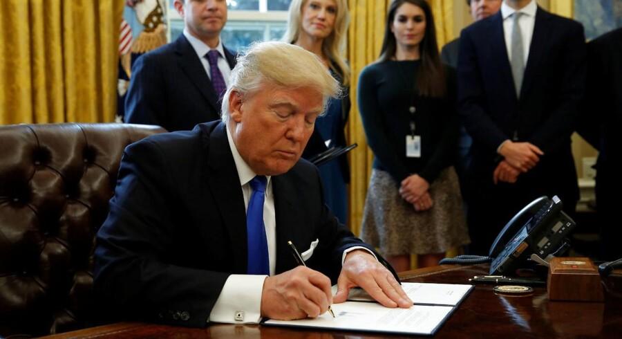 ARKIVFOTO: Trump har tirsdag underskrevet to dekreter, som genopliver projekterne Keystone XL og Dakota Access. Begge er tidligere blevet stoppet af miljøhensyn.