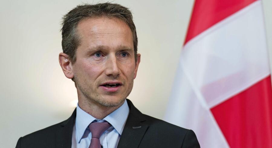 Udenrigsminister Kristian Jensen (V) har fortsat ikke kunne sende en af ministeriets såkaldte vækstrådgivere til Indien, og tøbruddet lader vente på sig. Arkivfoto: Sebastian Gollnow