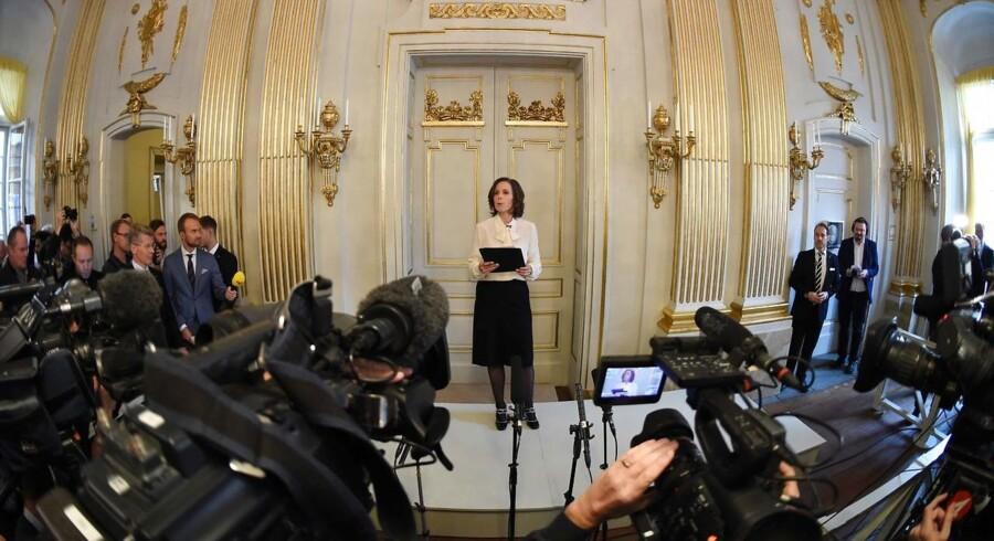 Sara Danius, Det Svenske Akademis sekretær, afholder pressekonference om Nobel-komiteens litteraturpris til Bob Dylan.