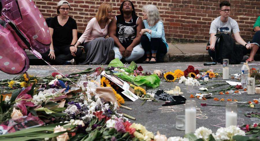 Der var én, der døde og 19, der blev sårede, efter angrebet i Charlottesville, Virginia, August 14, 2017. REUTERS/Justin Ide
