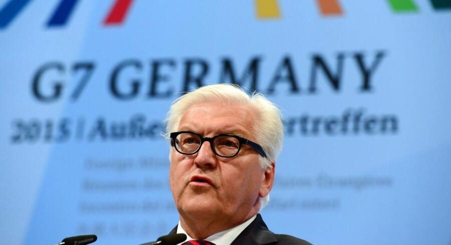 I en kort udtalelse før G7-topmødet udtalte den tyske udenrigsminister, Frank-Walter Steinmeier, at der er et »aldeles akut« behov for Ruslands deltagelse i løsningen af internationale konflikter i Syrien og Iran.