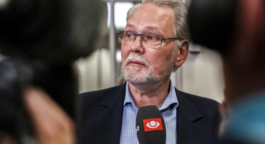 Dennis Kristensen fotograferet tirsdag den 24. april 2018 ved Forligsinstitutionen i København, som danner ramme om forhandlingerne om overenskomst for offentligt ansatte (foto: Martin Sylvest/Scanpix Ritzau 2018).