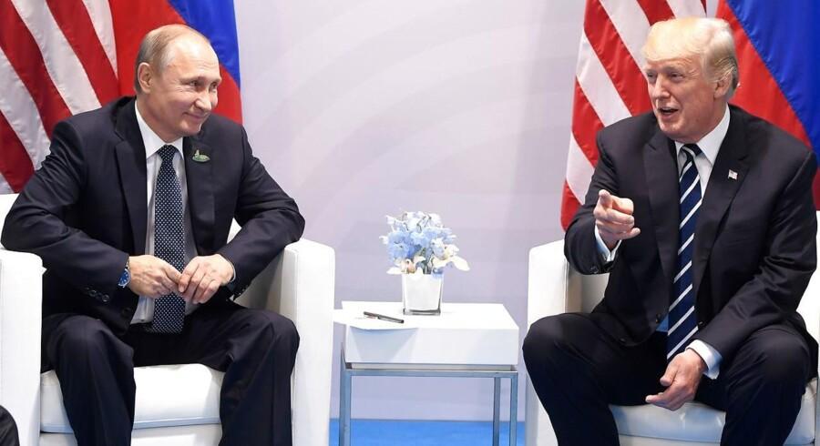 USAs Præsident Donald Trump mødtes i dag med Vladimir Putin