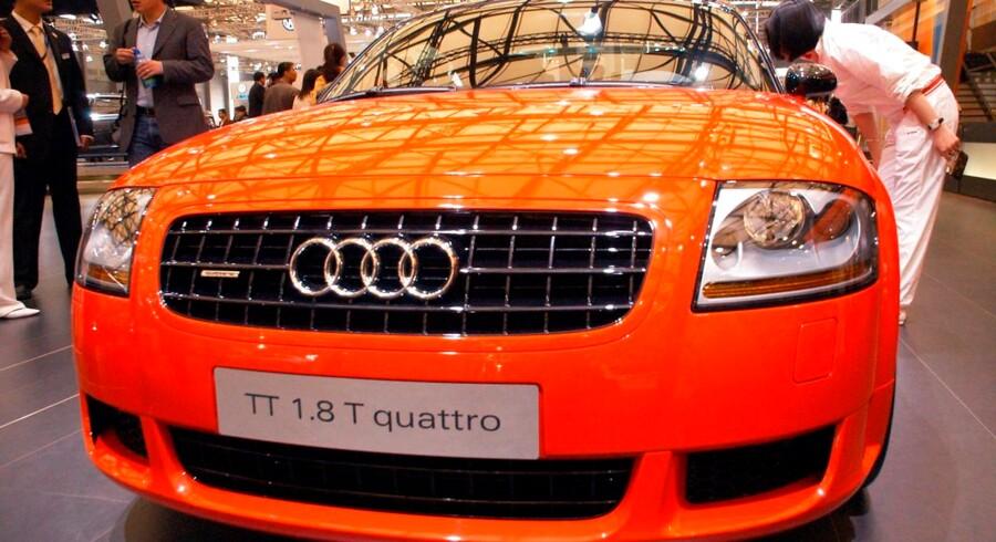 En Audi TT på svensk afgift er omdrejningspunktet i sagen om, hvorvidt Skat kan dømme borgere for en forventet overtrædelse af reglerne om registreringsafgifter. Denne bil er dog fra en udstilling i Kina. China Newsphoto