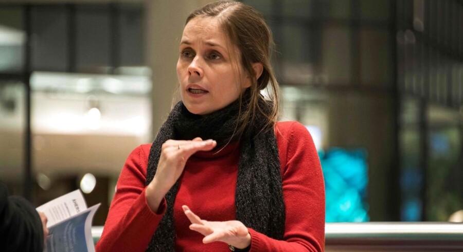 Lederen af Den Grønne Venstrebevægelse, Katrin Jakobsdottir.