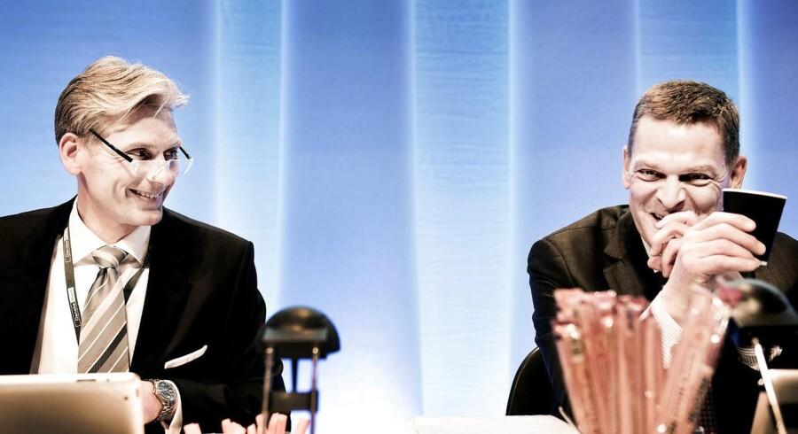 Formand Ole Andersen th. og adm. direktør Thomas Borgen.
